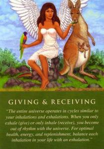 giving and receiving card